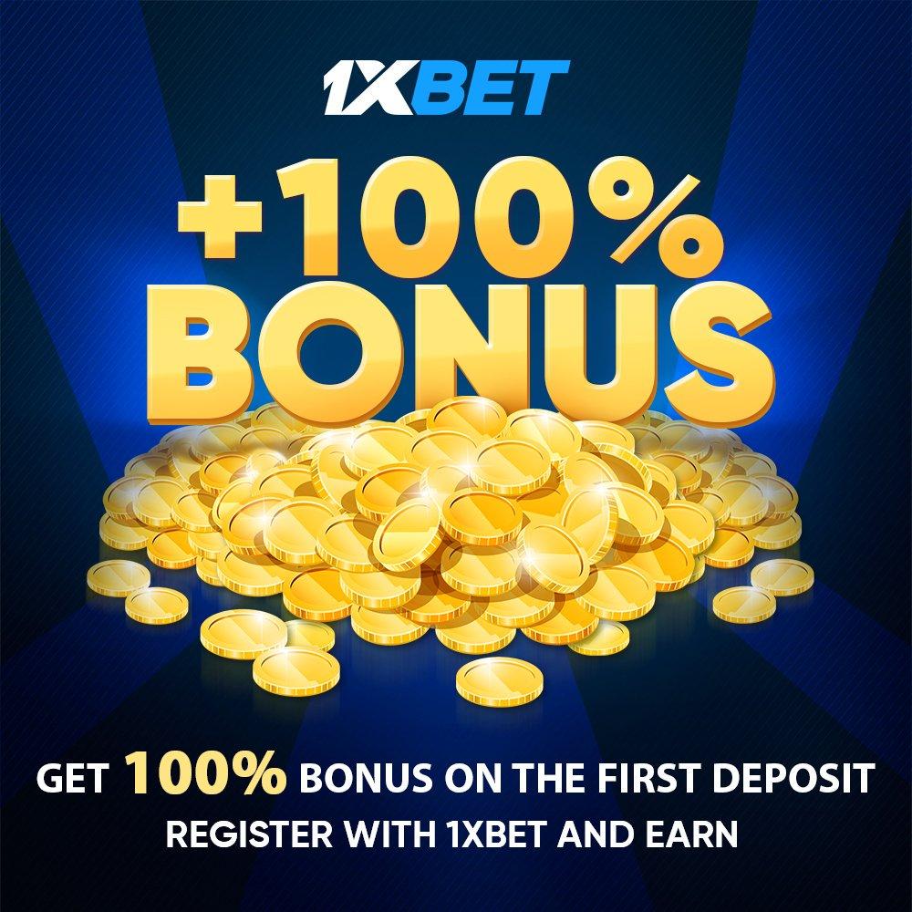 1xBet bonus 100
