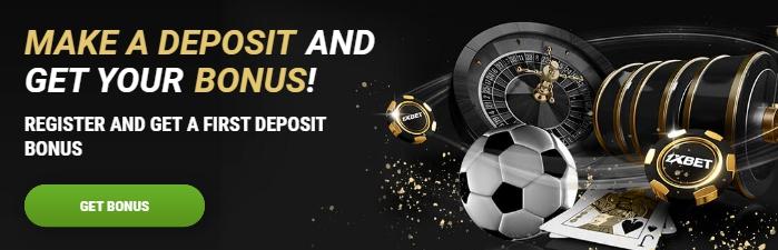 1xBet first deposit bonus in Kenya